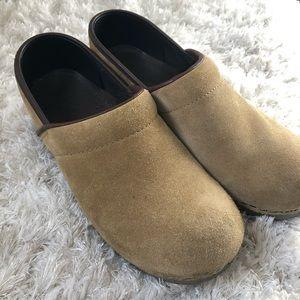 Dansko Suede Clog Leather Shoes